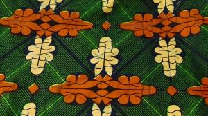 カンガ布 アフリカンプリント(キテンゲ) 波木