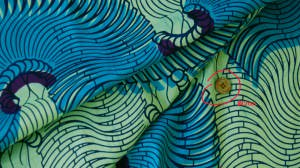カンガ布 アフリカンプリント(キテンゲ) 蝸牛