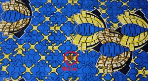 カンガ布 アフリカンプリント(キテンゲ) 幾何学1