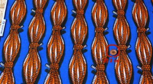 カンガ布 アフリカンプリント(キテンゲ) ロープ